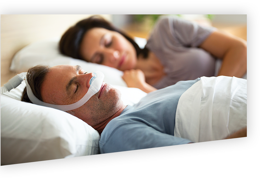 Man with CPAP sleeping